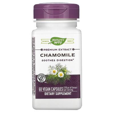 Nature's Way Chamomile, 250 mg, 60 Vegan Capsules