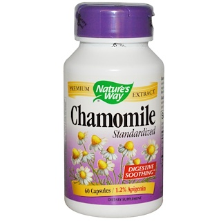 Nature's Way, Chamomile, Standardized, 60 Capsules