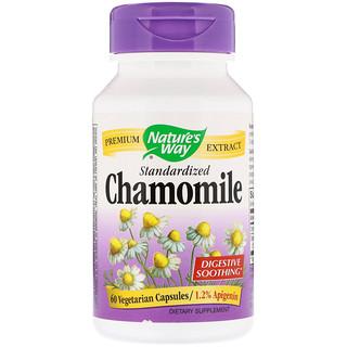 Nature's Way, Chamomile, Standardized, 60 Vegetarian Capsules