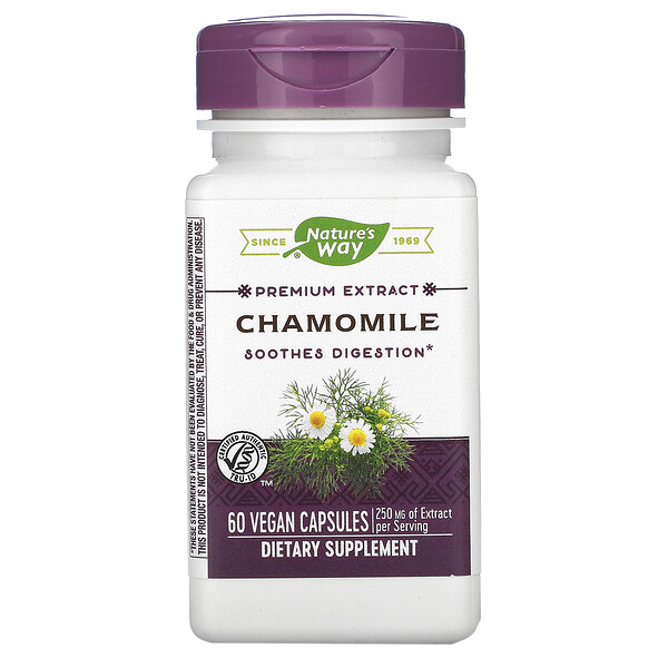 Nature's Way, Chamomile, 250 mg, 60 Vegan Capsules