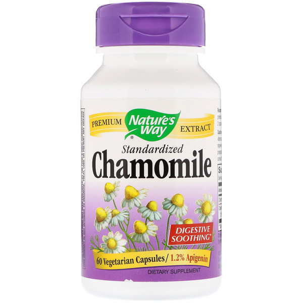 Nature's Way, Chamomile, Standardized, 60 Vegetarian Capsules