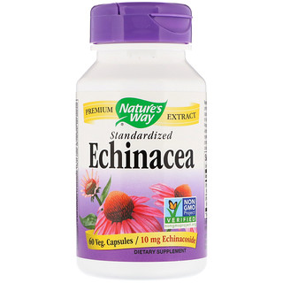 Nature's Way, Echinacea, Standardized, 60 Veg. Capsules
