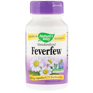 Nature's Way, Standardized Feverfew, 60 Veg Capsules