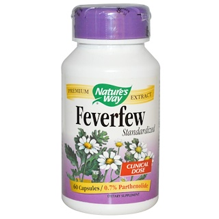 Nature's Way, Feverfew, Standardized, 60 Capsules