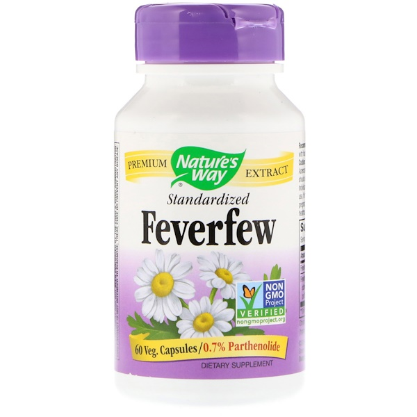 Nature's Way, Feverfew, Standardized , 60 Veg. Capsules (Discontinued Item)