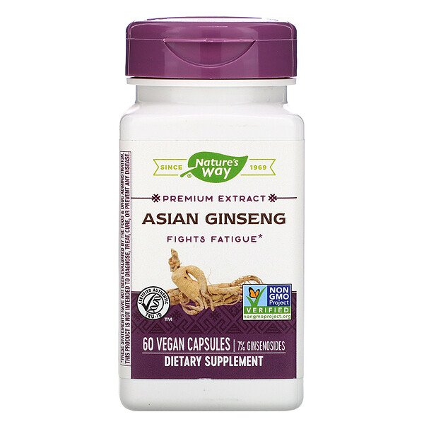 Asian Ginseng, 60 Vegan Capsules