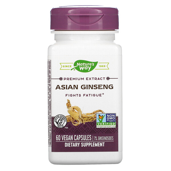 Nature's Way, Asian Ginseng, 60 Vegan Capsules