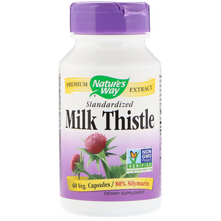 Nature's Way, Milk Thistle, Standardized, 60 Veg. Capsules