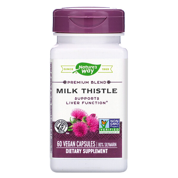 Nature's Way, Milk Thistle, 60 Vegan Capsules