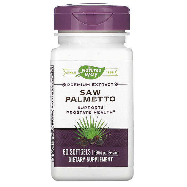 Nature's Way, Saw Palmetto, 160 mg, 60 Softgels