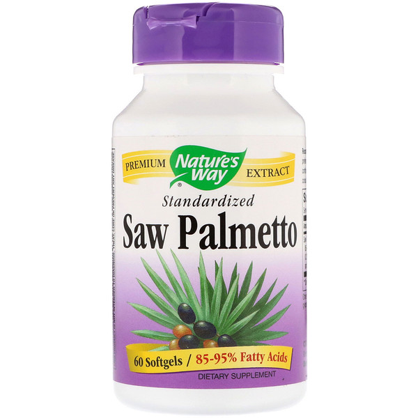 Nature's Way, Saw Palmetto Standardized, 60 Softgels