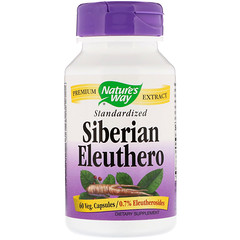 Nature's Way, Siberian Eleuthero, Standardized, 60 Veg. Capsules