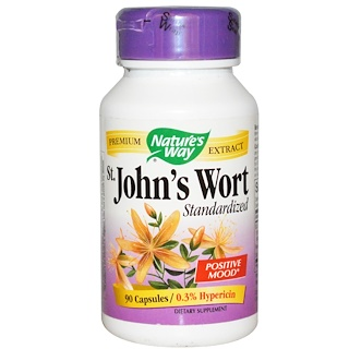 Nature's Way, St. John's Wort, Standardized, 90 Veggie Caps
