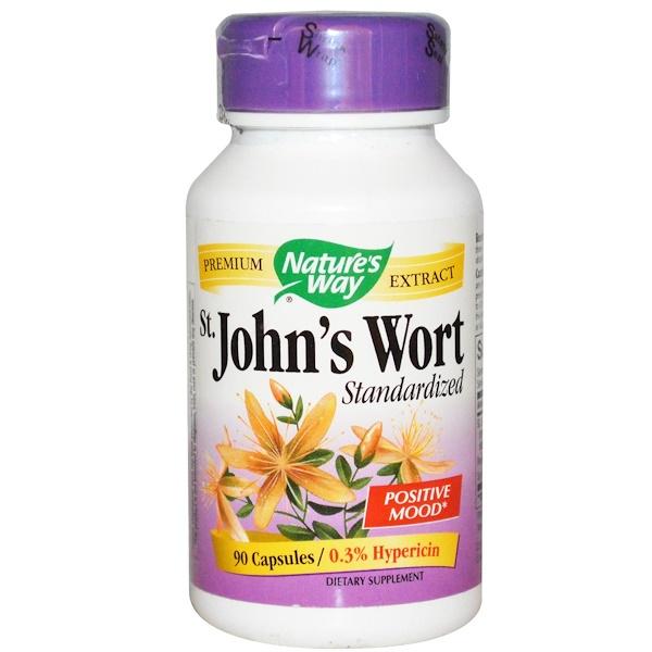 Nature's Way, St. John's Wort, Standardized, 90 Veggie Caps
