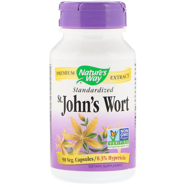 Nature's Way, St. John's Wort, Standardized, 90 Veg. Capsules