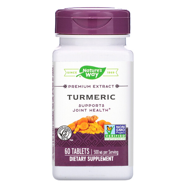 Nature's Way, Premium Extract, Turmeric, 500 mg , 60 Tablets