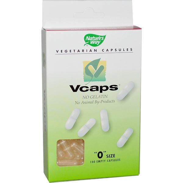 "Nature's Way, Vcaps, ""0"" Size, 100 Empty Capsules (Discontinued Item)"