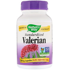 Nature's Way, Valerian, Standardized, 90 Veg. Capsules