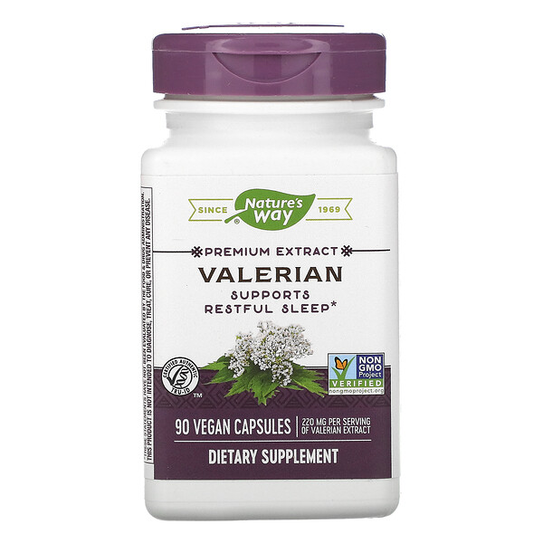 Nature's Way, Valerian, 220 mg, 90 Vegan Capsules