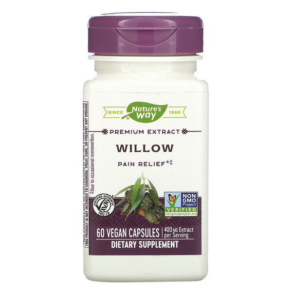 Nature's Way, Willow, 400 mg, 60 Vegan Capsules (Discontinued Item)