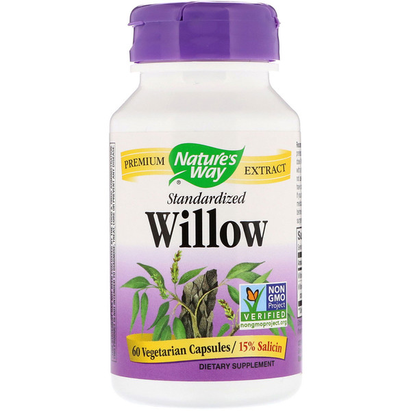Nature's Way, Willow, Standardized , 60 Vegetarian Capsules