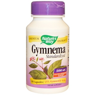 Nature's Way, Gymnema, Standardized, 500 mg, 60 Capsules