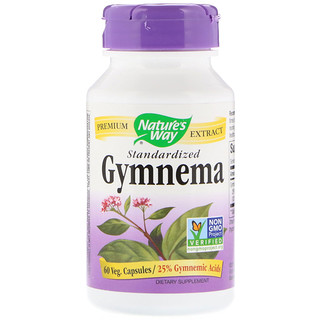Nature's Way, Gymnema, Standardized, 60 Veg. Capsules