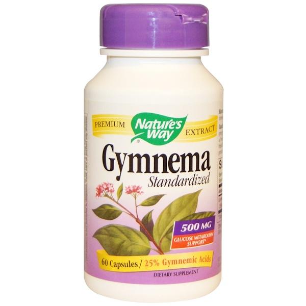 Nature's Way, Gymnema, Standardized, 500 mg, 60 Capsules