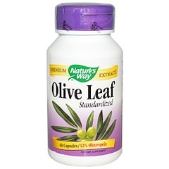 Nature's Way, Olive Leaf, Standardized, 60 Capsules