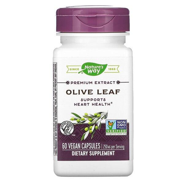 Premium Extract, Olive Leaf, 250 mg, 60 Vegan Capsules