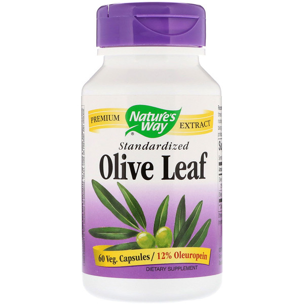 Nature's Way, Olive Leaf, estandarizado, de 60 cápsulas