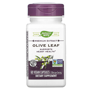 Натурес Вэй, Premium Extract, Olive Leaf, 250 mg, 60 Vegan Capsules отзывы покупателей