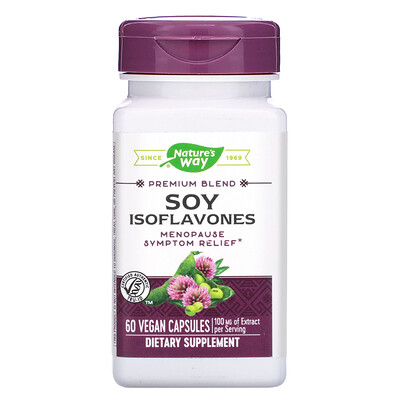 Nature's Way Premium Blend, Soy Isoflavones, 100 mg, 60 Vegan Capsules
