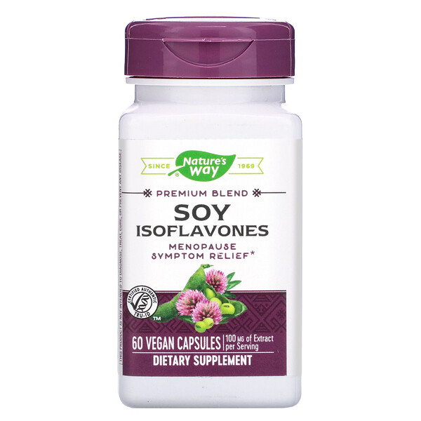 Nature's Way, Premium Blend, Soy Isoflavones, 100 mg, 60 Vegan Capsules