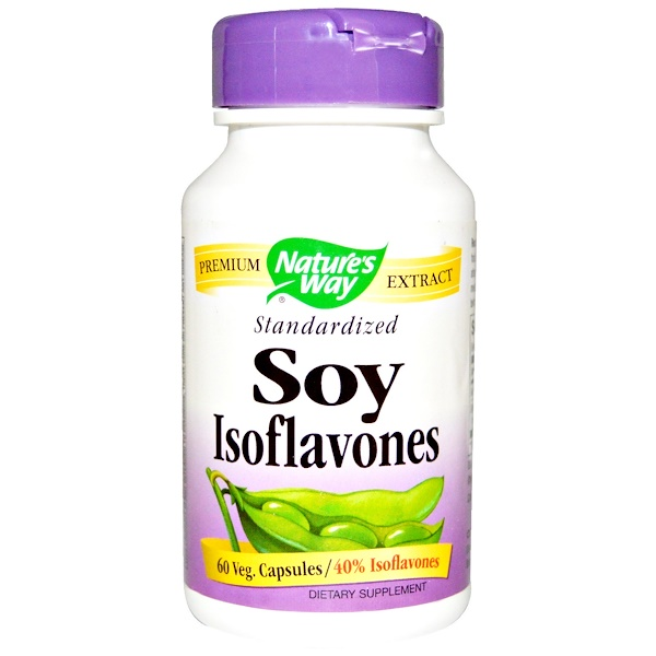 Nature's Way, Soy Isoflavones, Standardized, 60 Veggie Caps