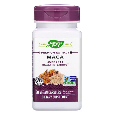 Купить Nature's Way Premium Extract, Maca, 350 mg, 60 Vegan Capsules