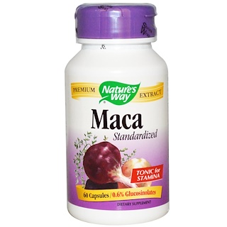 Nature's Way, Maca, Standardized, 60 Capsules