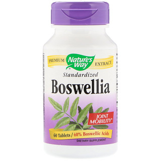 Nature's Way, Boswellia, Estandarizada, 60 Tabletas