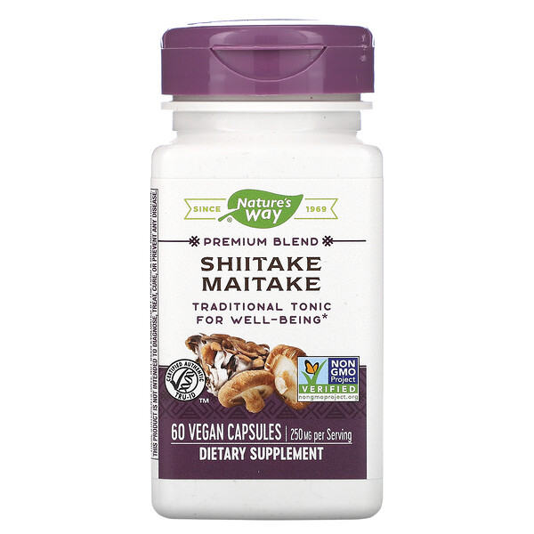 Nature's Way, Shiitake Maitake, 250 mg, 60 Vegetarian Capsules