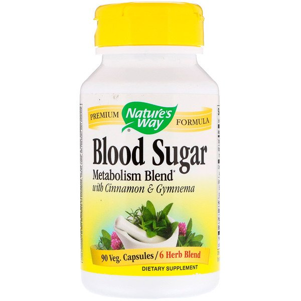 Nature's Way, Blood Sugar, 90 Veg. Capsules