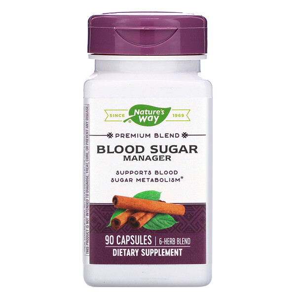 Nature's Way, Blood Sugar Manager, 90 Capsules