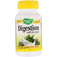 Digestion, with Enzymes, 100 Capsules - фото
