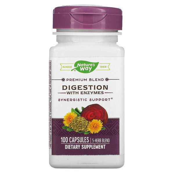 Digestion with Enzymes, 100 Capsules
