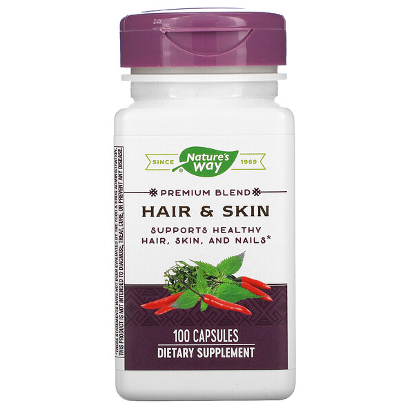 Nature's Way, Hair & Skin, 100 Capsules