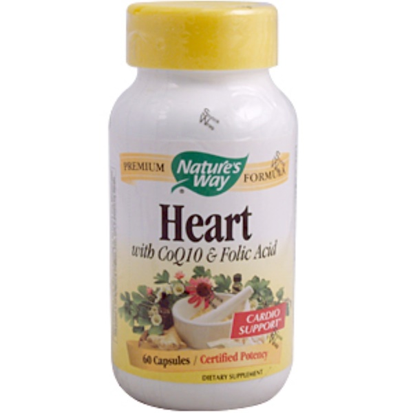 Nature's Way, Heart with CoQ10 & Folic Acid, 60 Capsules (Discontinued Item)