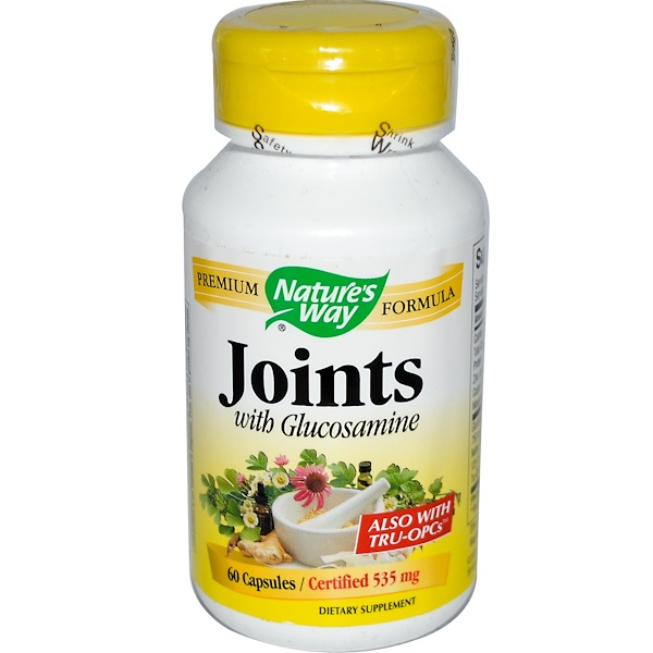 Nature's Way, Joints, With Glucosamine, 60 Capsules (Discontinued Item)