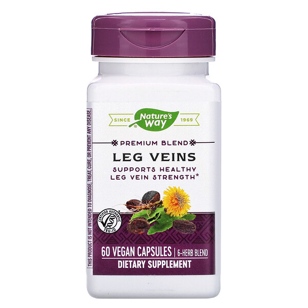 Nature's Way, Premium Blend, Leg Veins, 60 Vegan Capsules