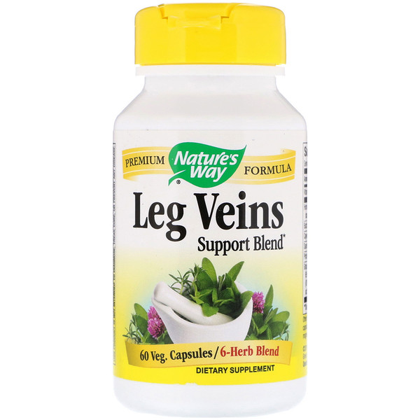 Nature's Way, Leg Veins Support Blend, 60 Veg. Capsules