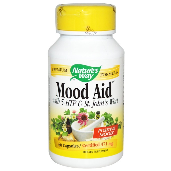 Nature's Way, Mood Aid, with 5-HTP & St. John's Wort, 471 mg, 60 Capsules (Discontinued Item)