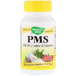 Nature's Way, PMS with B6 & Other B-Vitamins, 100 Vegetarian Capsules